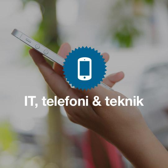 IT, telefoni och teknik